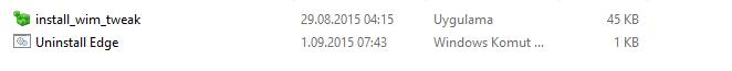 Microsoft Edge Kaldırma Sorunu - Çözüldü