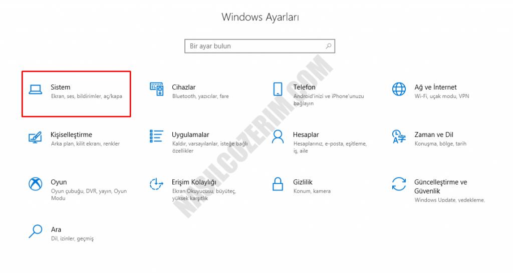 Windows 10 Bildirimleri Açmak/Kapatmak